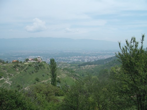 Nice views of Skopje from Mount Vodno.