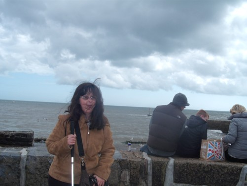 Tatiana, sea wall, Dawlish, Devon.