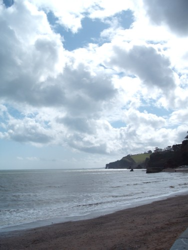 View out to sea, Dawlish.