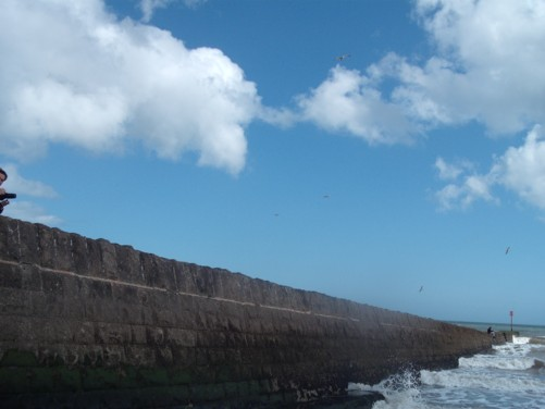 Sea wall, Dawlish.