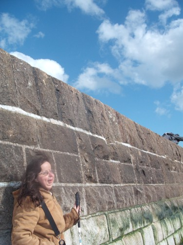 Tatiana, sea wall, Dawlish.
