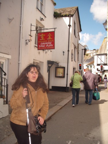 Tatiana, street in Looe.