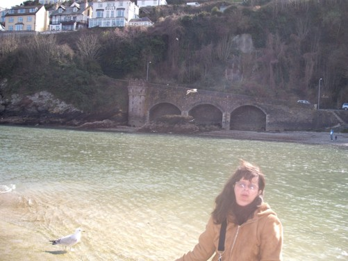 Tony and Tatiana, Looe river front.