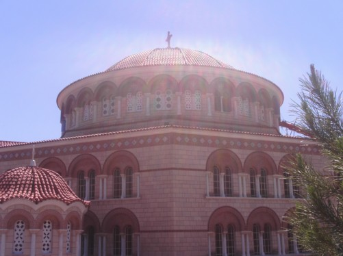 Dome of Agios Nektarios Monastery.