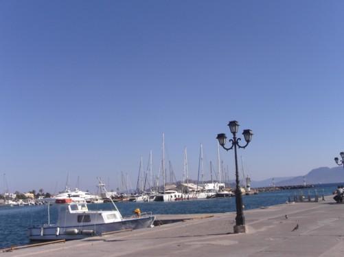 The harbour in Aegina Town.