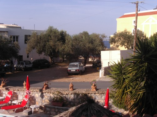 View from the balcony of Hotel Vasilaras.