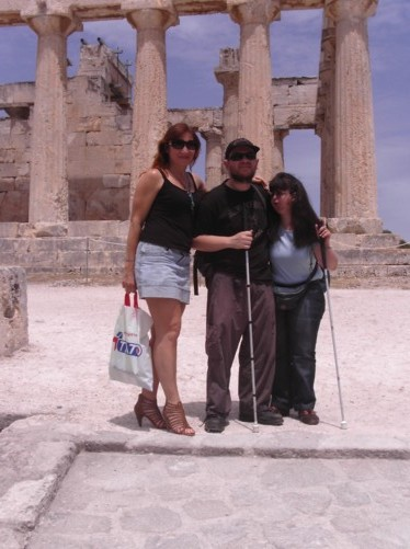 Elena, Tony and Tatiana at Athia Temple.