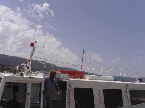 Passenger boat in Poros Harbour.