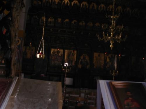 Inside the Catholiko, the main church of the monastery.