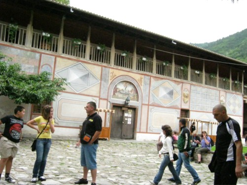Inner courtyard of the monastery.