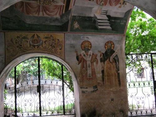Portico area with frescos.