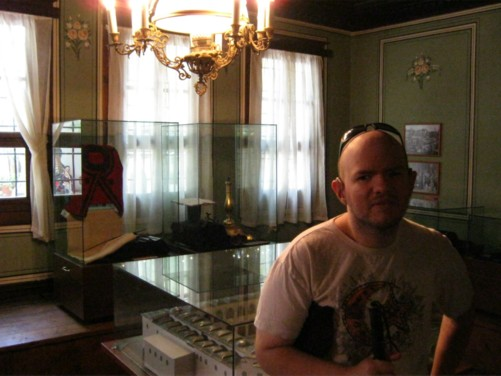 Tony inside the Historical Museum, also called the Museum of Revival and the National Liberation.