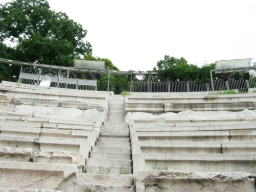 Seating inside amphitheatre.