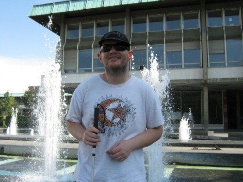 Tony by the fountains.