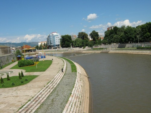 View along the Nišava River in Niš.