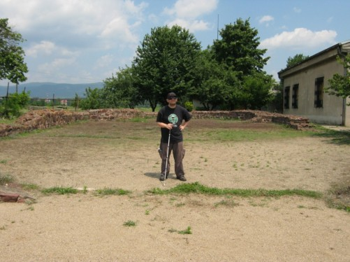 Tony at Mediana archaeological site.