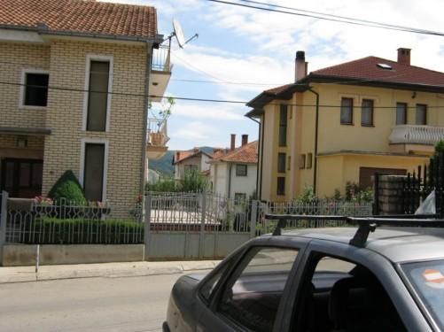Residential street near Velania Guesthouse.