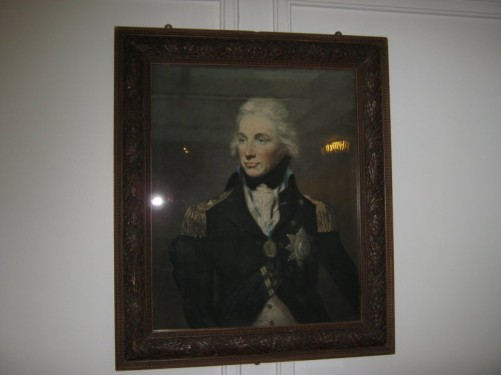 Portrait of Admiral Lord Nelson, the Royal Yacht Britannia.
