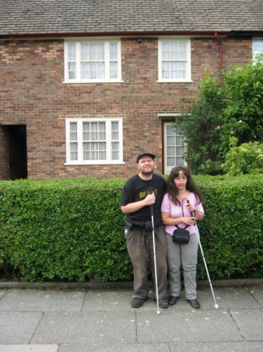 Tony and Tatiana outside Paul McCartney's house.