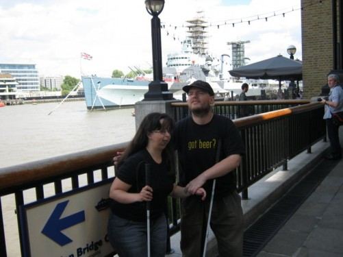 Tatiana & Tony near HMS Belfast, London.
