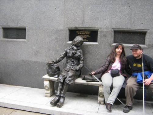 Tony & Tatiana sat with Eleanor Rigby.