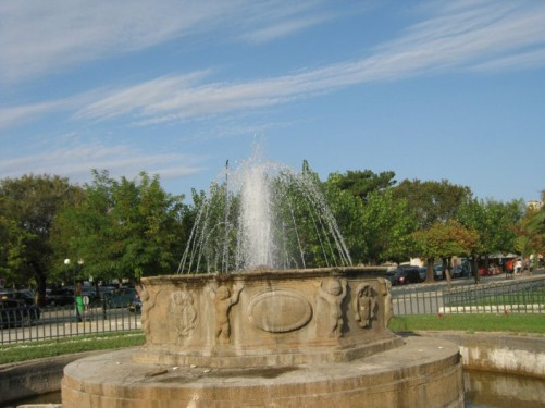 Fountain in the Esplanade.