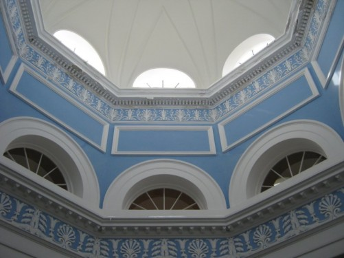 Domed ceiling inside Mon Repos palace.