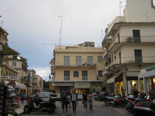 Small square, Corfu Town.