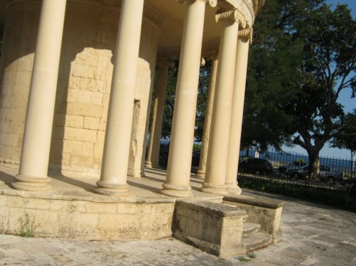 The Maitland Rotunda, built to honour Sir Thomas Maitland, British Lord High Commissioner of Corfu (1816-1824).