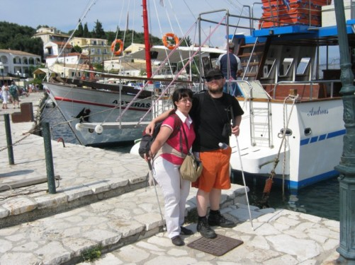 Tony and Tatiana, Kassiopi harbour.