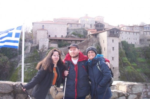 Tony, Tatiana, unknown lady. Holy Monastery of Great Meteoron.