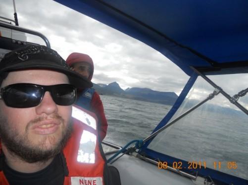 Tony heading across the Beagle Channel.