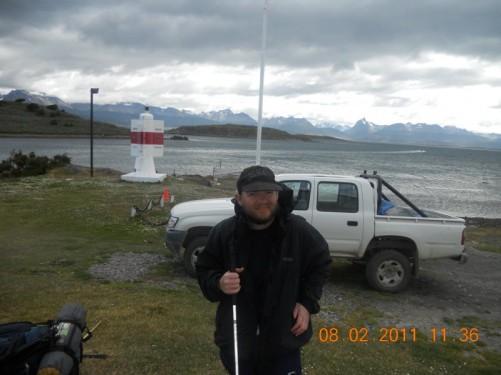 Tony safely arrived on Navarino Island, Chile.