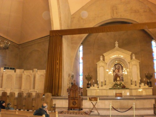 Altar inside St. Gregory the Illuminator Cathedral.