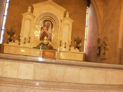 Close-up of altar.