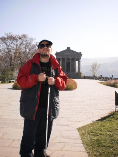 Tony at Garni Temple.