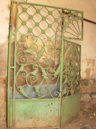 Decorative iron gate.