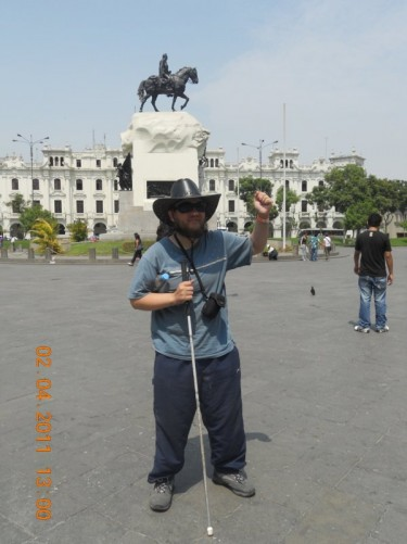 Plaza San Martin, centre of Lima.