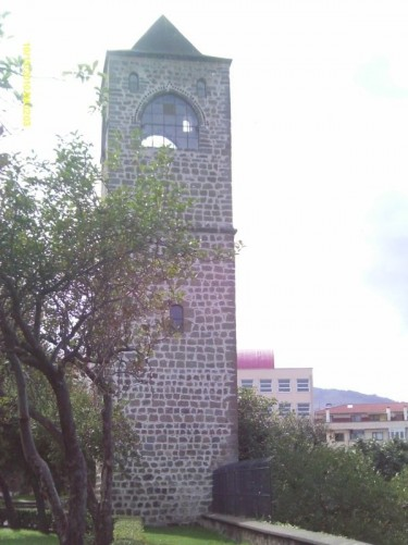 Bell tower of Hagia Sophia church, Trabzon.