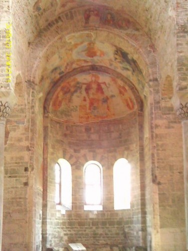 Domed window with frescos.