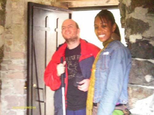 Tony and Tatsinda at Sumela Monastery.