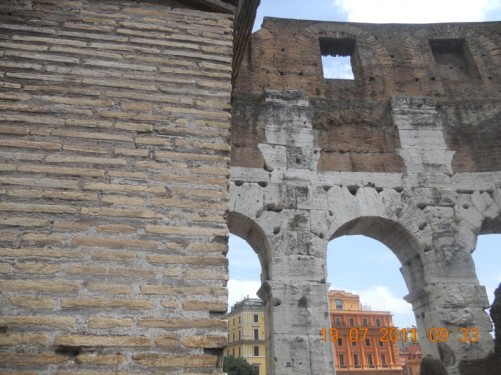 Arches in the outer wall.