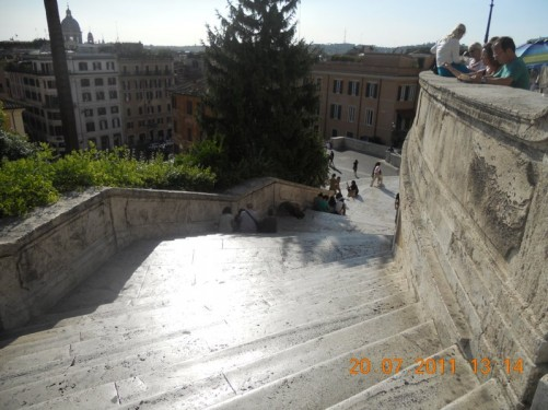 A view down the Spanish steps.