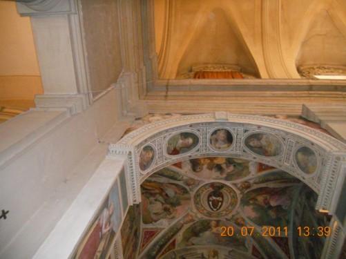 The ceiling of Trinità dei Monti church.
