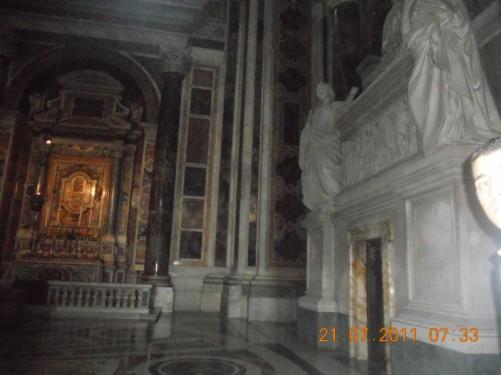 An altar inside St. Peter's Basilica.