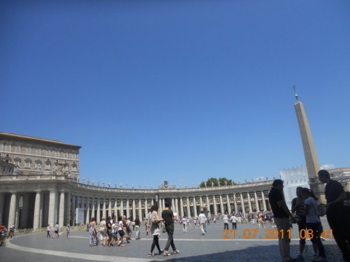 St. Peter's Square (Piazza San Pietro).