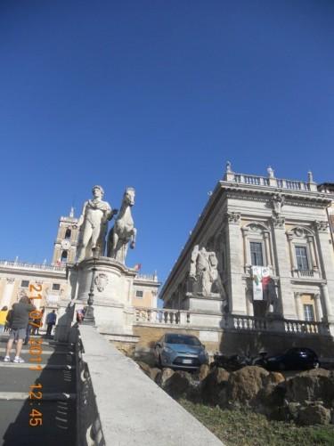The view up to Piazza di Campidoglio and Palazzo Senatorio.