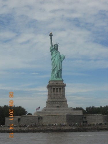Another view of the Statue of Liberty from the ferry.