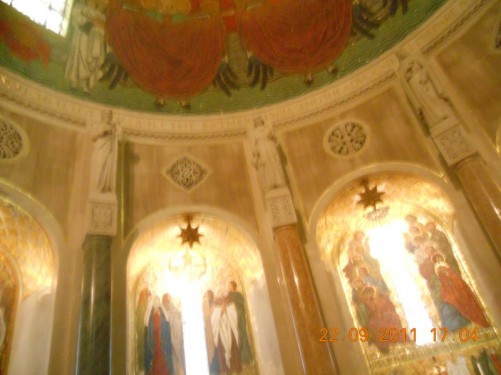 Inside the Basilica of the National Shrine of the Emmaculate Conception.