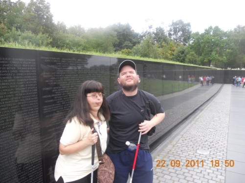 The Vietnam Veterans Memorial, showing the list of names of US service personnel who died in the Vietnam War, 1959-1975.